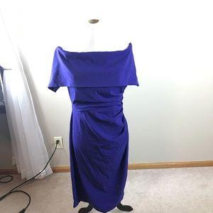 Vince Camuto Purple Off The Shoulder Dress